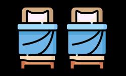camera doppia senza bagno interno